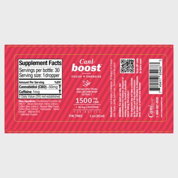 Cani-Boost Broad Spectrum CBD Oil Label