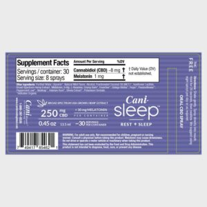 Cani-Sleep Broad Spectrum CBD Oral Spray