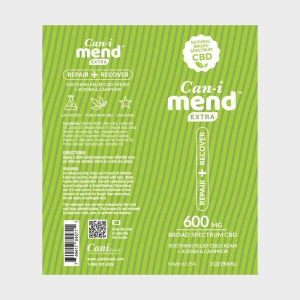 Cani-Mend Broad Spectrum CBD Cream Label